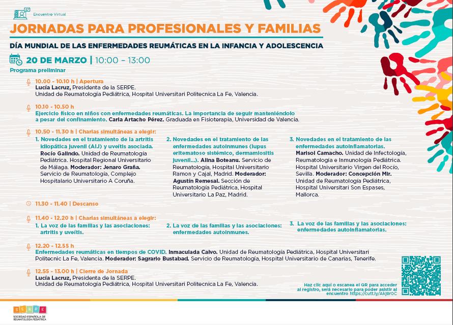 Día 20 de marzo, día mundial de las enfermedades reumáticas en la infancia y adolescencia